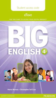 Obrazek Big English 4. Pupil's eText AccessCodeCard