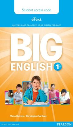 Obrazek Big English 1 Pupil's eText AccessCodeCard