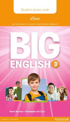 Obrazek Big English 3. Pupil's eText AccessCodeCard